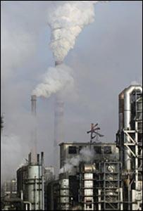 Planta química en la provincia china de Jilín.