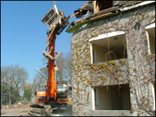 Demolition of St Mellion building