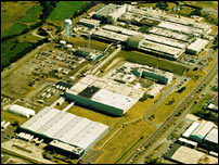 Aerial photograph of the 3M plant in Gorseinon