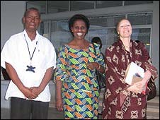 Al-Shymaa Kway-Geer, Tanzania's first albino MP,  with her husband (left) and deputy