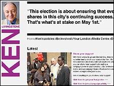 Ken Livingstone's campaign site