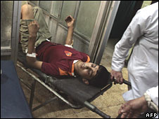 A patient at a local clinic in Baghdad's Sadr City on 15 April 2008