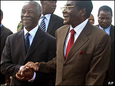 Thabo Mbeki and Robert Mugabe