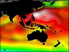 Graphic showing sea level variations (Eumetsat)