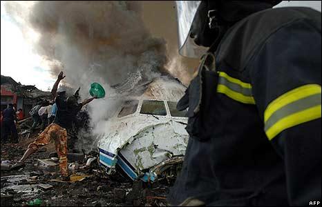 Site of Goma air crash