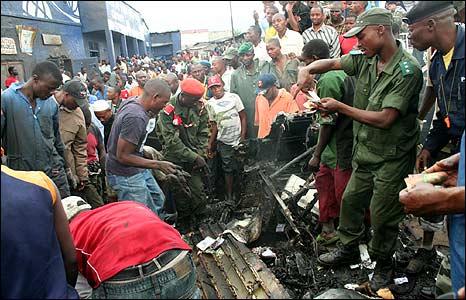 Site of Goma air crash (image UNHCR)