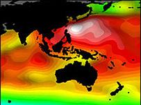 رسم تخيلي يظهر ما يمكن أن تكون عليه الحال عند ارتفاع منسوب مياه البحر