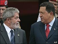 Luis Inazio Lula da Silva y Hugo Chávez