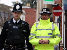 Cambridgeshire Police's Chief Constable Julie Spence [right]