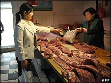 Woman shops in Beijing