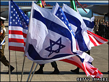 US and Israeli flags