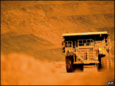 A truck in a mine in Australia