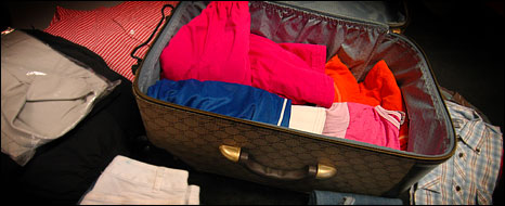 Contents of a suitcase lost at Heathrow