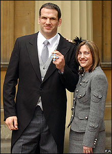 Martin Johnson and wife Kay receive his CBE at Buckingham Palace