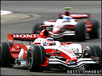 Super Aguri drivers in action