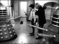 William Hartnell and Daleks in Doctor Who