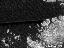 Coastal area on Titan (Nasa/JPL)
