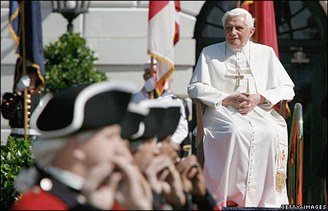 Pope Benedict XVI at the White House
