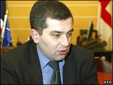Georgian Foreign Minister David Bakradze