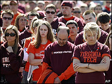 Mourners at Virginia Tech