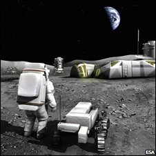 Moonbase impression (Esa)