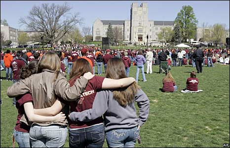 virginia tech shooting. at Virginia Tech 16 April