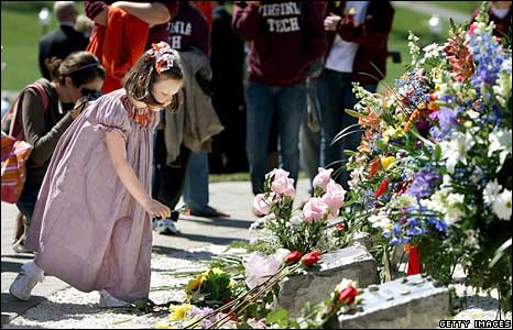 Memorial ceremony at Virginia Tech 16 April
