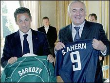 Nicolas Sarkozy and Bertie Ahern