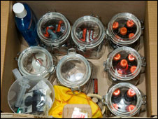 Alleged bomb-making materials were found discarded LLoyd park.