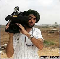 Reuters cameraman  Fadel Shana (pictured in July 2007)