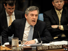 Gordon Brown at the UN
