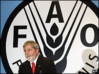 Presidente de Brasil, Luiz Inácio Lula da Silva, en XXX Reunión Regional de la FAO en Brasilia