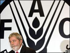 Luiz Inacio Lula da Silva in Brasilia, 16 April, 2008