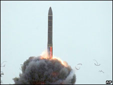 Russian intercontinental ballistic missile launched last year