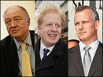 Ken Livingstone, Boris Johnson, Brian Paddick
