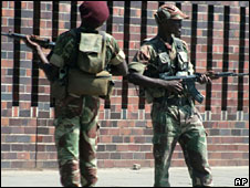 Military police with guns