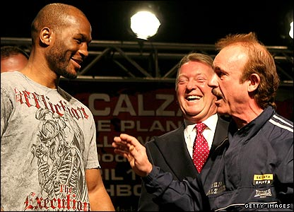 Bernard Hopkins and Enzo Calzaghe