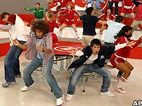A scene from High School Musical