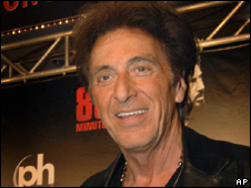 Al Pacino arriving for his premiere in Las Vegas