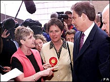 Sharron Storer and Tony Blair