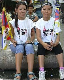 Tenzin Paldan (right) and Tenzin Tsering