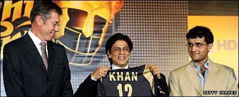 John Buchanan, Shah Rukh Khan and Sourav Ganguly