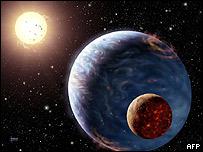 Ilustración de un planeta similar a la vida