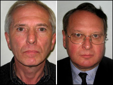 Peter Kemp (l) and Timothy Entwisle