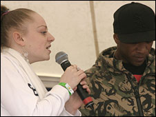 Cici J with Bristol MC Jakes