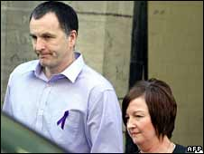Stephen and Melanie Jones leaving Liverpool Magistrates' Court