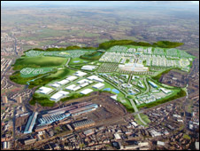 Graphic of Ravenscraig development