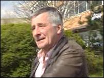 Rod Richards leaving Fairwater police station, Cardiff