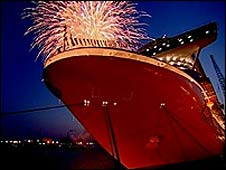 Ventura naming ceremony fireworks