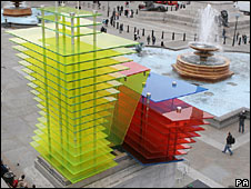 Thomas Schutte's Model for a Hotel 2007 in Trafalgar Square